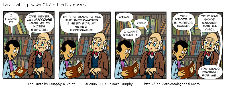 Although written by a scientest, the lab notbook belongs to the lab!