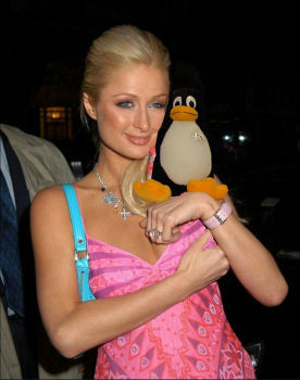 Paris Hilton and Tux